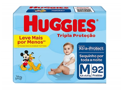 HUGGIES TRIPLA PROTEÇÃO